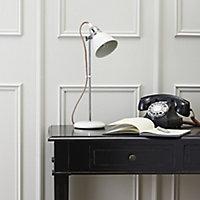 Colours Estiva Matt White CFL Table lamp