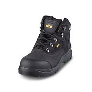 Site Onyx Black Safety boots, Size 7