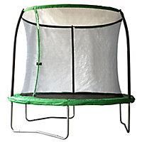Black & green 8ft Trampoline & enclosure