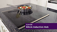 Cooke & Lewis CLIH-60 4 Zone Black Stainless steel Induction Hob, (W)590mm