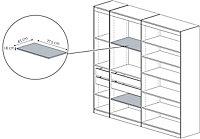 Form Perkin White Shelf (L)775mm (D)450mm, Pack of 2