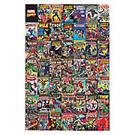 Marvel Comic montage Multicolour Canvas art (H)900mm (W)600mm