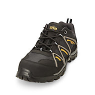 Site Mercury Black Safety trainers, Size 10
