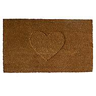 Colours Rudia Heart Natural Coir Door mat (L)0.75m (W)0.45m
