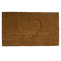 Colours Rudia Heart Natural Coir Door mat (L)0.75m (W)0.45m