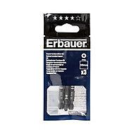 Erbauer PH3 Impact Screwdriver bits 50mm, Pack of 3