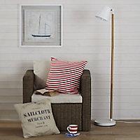 Colours Adelsbury Matt White Halogen Floor lamp