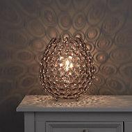 Colours Bartt Matt Clear Eco halogen Table lamp