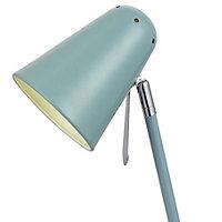 Colours Markham Matt Blue Table lamp