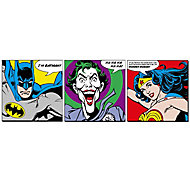 DC faces Multicolour Wall art, Set of 3 (H)300mm (W)300mm