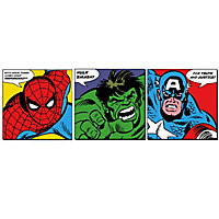 Marvel Faces Multicolour Wall art, Set of 3 (H)300mm (W)300mm