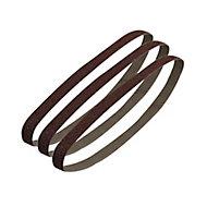 PTX Coarse Sanding belt set (W)13mm (L)451mm, Pack of 3