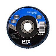 PTX 40 grit Flap disc (Dia)115mm