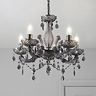 Annelise Smoked 5 Lamp Chandelier Ceiling light