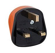 B&Q 13A Orange Plug