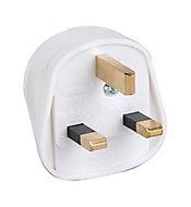 B&Q 13A White Plug