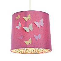 Colours Pink Butterflies Light shade (D)230mm