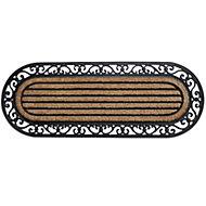 B&Q Black & natural Coir & rubber Door mat (L)450mm (W)450mm