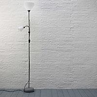 Value Matt White Incandescent Floor lamp