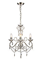 Chesworth Brushed Nickel effect 3 Lamp Chandelier Ceiling light