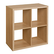 Form Mixxit Oak effect 4 Cube Shelving unit (H)740mm (W)740mm