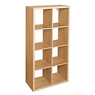 Form Mixxit Oak effect 8 Cube Shelving unit (H)1420mm (W)740mm (D)330mm