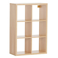 Form Mixxit Oak effect 6 6 Shelf Cube Shelving unit (H)1080mm (W)737mm (D)330mm