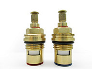"Plumbsure Brass Thread Tap gland with 1/4 turn ceramic seal (Thread)1/2"" (Dia)10mm, Set of 2"