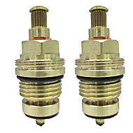 """Plumbsure Brass Thread Tap gland With Rubber Seal, Threaded Collar (Thread)1/2"""" (Dia)8mm, Set of 2"""