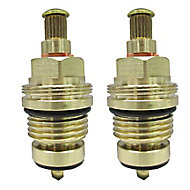Plumbsure Brass Threaded Tap gland (Dia)8mm, Pack of 2
