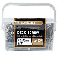 B&Q Carbon steel Screw (Dia)4.5mm (L)75mm, Pack of 200