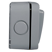 Diall 20A Grey Double Outdoor Switch