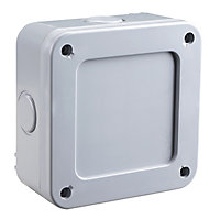 Diall Grey 57A Junction box 100mm