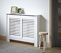 New suffolk Medium White Radiator cover