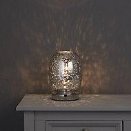 Colours Guerrein Chrome effect Incandescent Table lamp