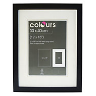 Black Single frame MDF Picture frame (H)400mm x (W)300mm