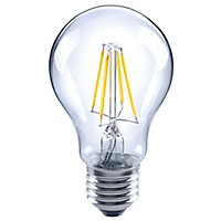 Diall E27 4W 470lm GLS LED filament Light bulb, Pack of 3