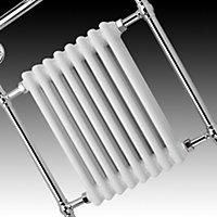Blyss Victoria White Towel warmer (H)952mm (W)659mm