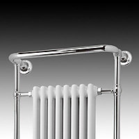 Blyss Victoria Electric White Towel warmer (H)952mm (W)659mm