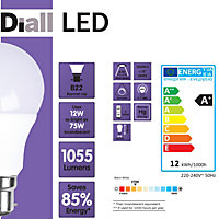 Diall B22 12W 1055lm LED Light bulb