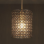 Colours Mokena Smokey Crystal effect Beaded Light shade (D)160mm