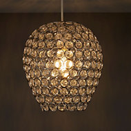 Colours Bartt Clear Crystal effect Beaded Light shade (D)230mm