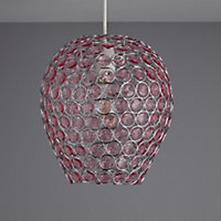Colours Bartt Pink Crystal effect Beaded Light shade (D)230mm