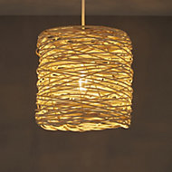 Colours Baroda Natural Rattan Light shade (D)210mm