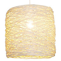 Colours Baroda Natural Rattan Light shade (D)300mm