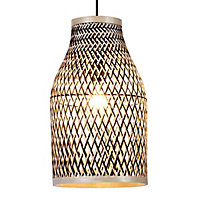 Colours Pianosa Black Bamboo Light shade (D)230mm