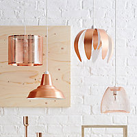 Colours Gatun Copper effect Wire Light shade (D)205mm