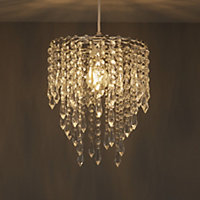 Colours Agassiz Clear Crystal effect Beaded Light shade (D)250mm