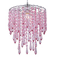 Colours Agassiz Pink Beaded Light shade (D)250mm