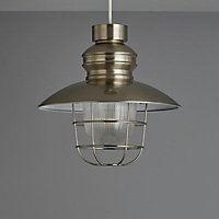 Colours Payton Satin Nickel effect Fisherman's Light shade (D)280mm